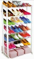 21 PAIRS SHOE RACK 7 TIER ORGANISER STAND HOME SIMPLE FREE STANDING
